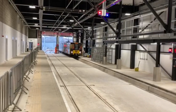 First Metro Train Arrives at new Nexus Learning Centre